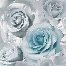 Teal Bedroom Wallpaper Muriva Madison Rose Floral Wallpaper Blue 119503 New Flower