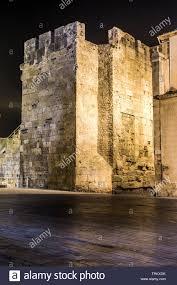 Rei Night Light Rei Square Tarragona Old Town By Night Catalonia Spain