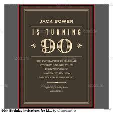 Free Printable 90th Birthday Invitations Dolanpedia Invitations