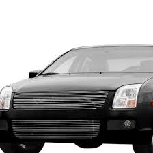 ford fusion blacked out grill. carriage works® - brushed billet bumper grille ford fusion blacked out grill d