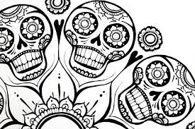 Small Picture Coloring Pages Excellent Sugar Skull Coloring Pages Coloring