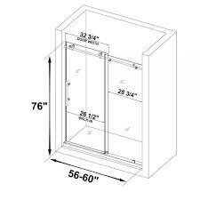 woodbridge frameless shower doors 56 60