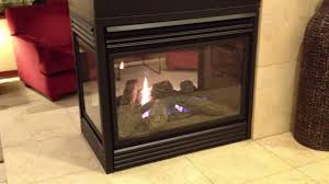 napoleon see thru gas fireplace three sided peninsula burn review corner bgd402 bgd403