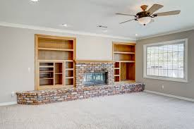 lighting for family room. Family Room Media And Book Shelves With Gas Wood-burning Fireplace, Recessed Lighting For