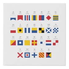 The symbol from the international phonetic alphabet (ipa), as used in phonetic transcriptions in modern dictionaries for english learners — that is, in a. Nautical Alphabet Posters Prints Zazzle