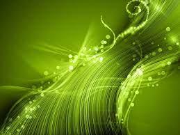 Green Lights Wave Star-Abstract art ...