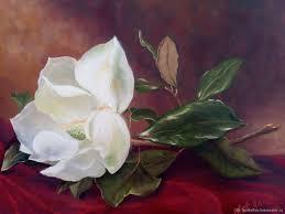 flower paintings handmade livemaster handmade the painting magnolia oil