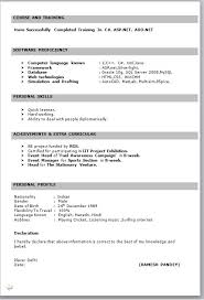100 Best Resume Format For Freshers Free Download In Word