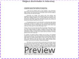religious discrimination in essay term paper academic  religious discrimination in essay discrimination in our world but matter at hand of discrimination