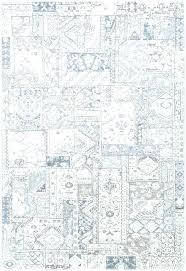 ivory blue abstract rug area rugs house
