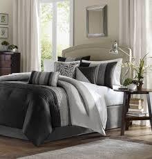 madison park amherst comforter set queen black grey