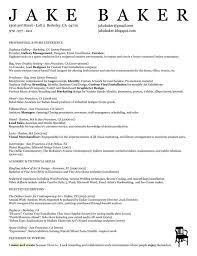 Sample Resume For Baker Luxury Production Manager Resume Format