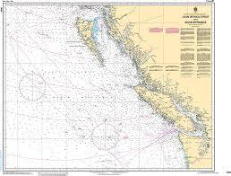 Ocean Charts Bc 25 Unexpected Sailing Navigation Chart