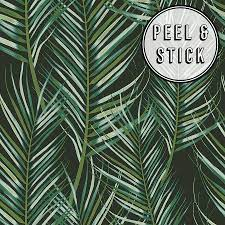 Green Palm Peel and Stick Wallpaper ...