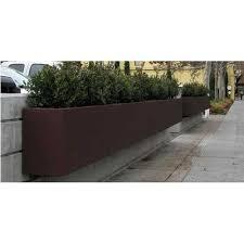 brown wall hanging rectangular planters