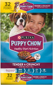 Puppy Chow Tender Crunchy With Real Beef Dry Dog Food 32 Lb Bag