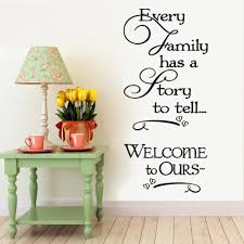 Small Picture Welcome To Our Home Family Quote Wall Decals Decorative Removable
