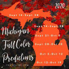2020 michigan fall color map see peak