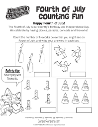 Small Picture Fourth of July counting worksheet fireworks safety