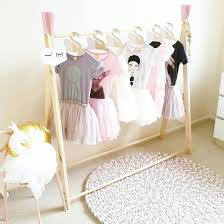 finlee and me kids room décor wooden clothing rack