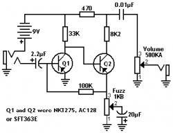 original pnp germanium fuzz face schematic pedal tech original pnp germanium fuzz face schematic