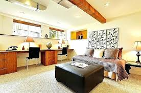 home office bedroom combination. Bedroom Home Office In Elegant Stylish Basement With A Place To Rest . Combination