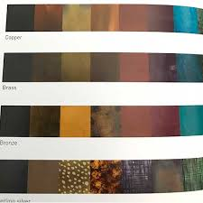 Patina Color Chart Patinas And The Metal That Loves Them Adding Color To Your