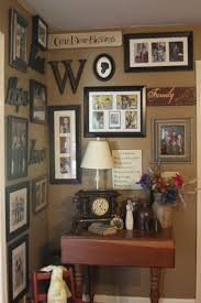 Corner Decorating Ideas : Gorgeous Home Interior Decoration With Brown  Wooden Table Plus Nice Frames Of ...