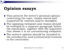 the opinion essay 3 opinion essays