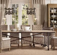 laney fixed kitchen table 799 which is a rustic pine table very simple but i think it could be very pretty paired with slipcovered dining chairs