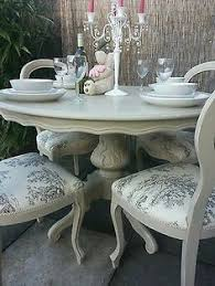 french shabby chic louis dining table and balloon back chairs annie sloan painted with annie sloan chalk paint in the country grey shade over the old