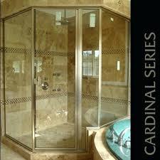 cozy semi framed shower door glass semi frameless shower door installation cost