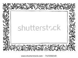 vintage frame border. Hand Drawn Invitation Design. Vintage Frame And Border Illustration. Ancient Engraving Style. F