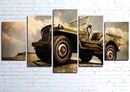 wish 5 panels art canvas print jeep vintage car poster wall decor home interior no frame
