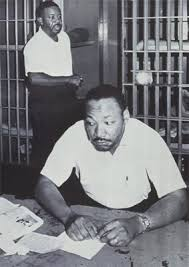 letter from a birmingham jail by martin luther king jr ned  martin luther king jr front ralph ralph abernathy in the st john s county jail in st ine florida in 1964