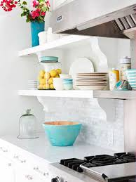 Open Kitchen Shelf 22 Ideas For Styling Open Kitchen Shelves Brit Co