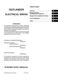 2006 mitsubishi outlander electrical wiring diagram pdf manual mitsubishi wiring diagram 2006 mitsubishi outlander electrical wiring diagram (462 pages)