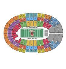 Usc Football Seating Chart Stadium Map Elcho Table Trojans