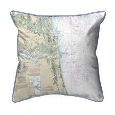 Nautical Chart Pillows Jacksonville Florida Nautical Chart 22 X 22 Pillow