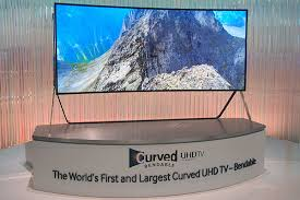 samsung curved tv 105. watch: samsung\u0027s 105-inch bendable uhd tv samsung curved tv 105