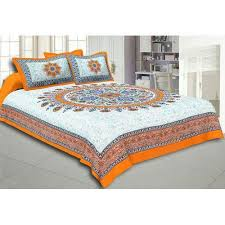 cotton bed sheets. Brilliant Bed Jaipuri Cotton Bed Sheet In Sheets IndiaMART