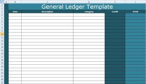 Ledger Template For Excel A General Ledger Template Excel Is Therefore Create To Record All