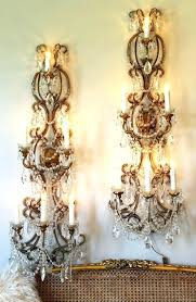 shabby chic wall sconces french