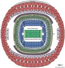 New Orleans Saints Superdome Seating Chart Mercedes Benz Superdome Tickets And Mercedes Benz Superdome