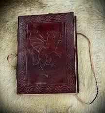 leather bound dragon rampant journal