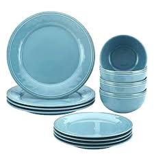 tempered glass dinnerware piece round rim shape opal set white kitchen dining clear red sets