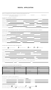 Application Form For Rental Rental Application Form Templates Pdf Download Fill And