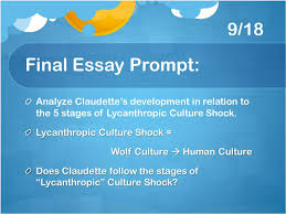st lucy s final essay ppt video online  9 18 final essay prompt analyze claudette s development in relation to the 5 stages