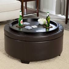 Black Round Ottoman Coffee Table Home Decorations Ideal Canada