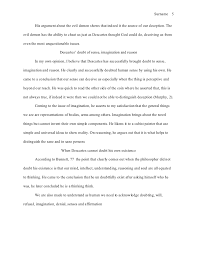 mla style essay reflection on descartes 5